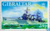Postzegels - Gibraltar - Oorlogsschepen W.O. II