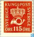 Postzegels - Zweden [SWE] - Kroon en posthoorn