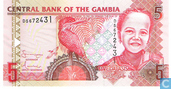 Billets de banque - Central Bank of the Gambia - Gambie 5 Dalasis
