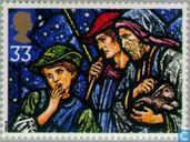 Postage Stamps - Great Britain [GBR] - Christmas-stained glass Windows