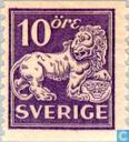 Briefmarken - Schweden [SWE] - Löwe stehend