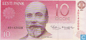 Bankbiljetten - Eesti Pank - Estland 10 Krooni