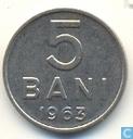 Roumanie 5 bani 1963