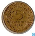France 5 centimes 1968