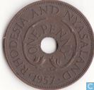 Rhodesia and Nyasaland 1 penny 1957