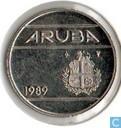 Aruba 25 Cent 1989