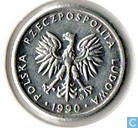 Pologne 1 zloty 1990 (Couronne ouverte)