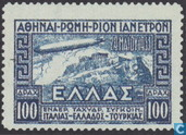 Postage Stamps - Greece - Italy flight Graf Zeppelin