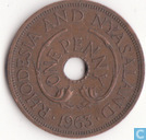 Rhodesia and Nyasaland 1 penny 1963