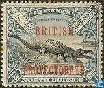 Crocodile, with overprint