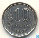 Argentine 10 pesos 1967