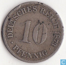 Empire allemand 10 pfennig 1873 (F)
