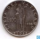 Vaticaan 100 lire 1956