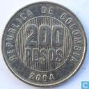 Colombia 200 pesos 2004