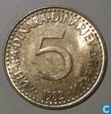 Joegoslavië 5 dinara 1982