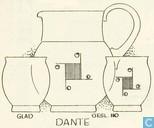 Glas / Kristall - Kristalunie - Dante Waterglas fumi (geslepen decor 110)