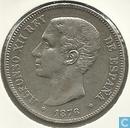 Spanien 5 Peseten 1876