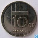 Netherlands 10 cent 2000 (MISSTRIKE)