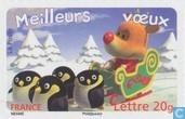 Renne et le pingouin