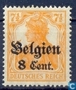 "Deutsches Reich marked ""Belgien"" and ""Cent."" or ""F"""