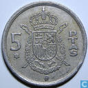 Spain 5 pesetas 1976