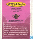 Sachets et étiquettes de thé - Adanim - Cherry