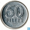 Hungary 50 fillér 1989
