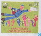 la livraison du courrier humanitaire