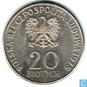 """Pologne 20 Zlotych 1978 """"Konopnicka Mary"""""""