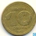 Joegoslavië 10 dinara 1992