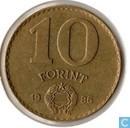 Hongarije 10 forint 1986