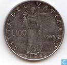 Vatican 100 lire 1963