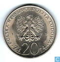 """Polen 20 zlotych 1975 """"Jaar van de vrouw"""""""