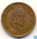"Zuid-Afrika 1 cent 1982 ""The end of Balthazar Johannes Vorster's presidency"""
