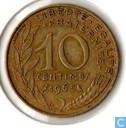 Frankrijk 10 centimes 1965