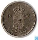 Denmark 1 krone 1974