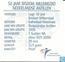 """Coins - Netherlands Antilles - Netherlands Antilles 5 gulden 2008 """"50 years Diocese of Willemstad"""""""