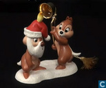 WDCC Pluto's Christmas Tree Chip n 'Dale ornament