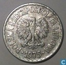 Poland 1 zloty 1975 (without mintmark)