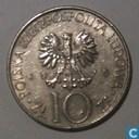 """Pologne 10 zlotych 1975 """"Adam Mickiewicz"""""""