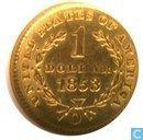 Verenigde staten 1 dollar 1853 O