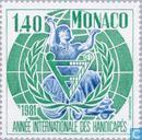 Postage Stamps - Monaco - Int. year of people with disabilities