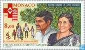 Postzegels - Monaco - Strijd tegen Lepra