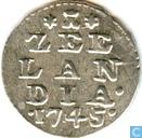 "Münzen - Zeeland - Neuseeland 2 Stuivers 1745 ""Doppelwaffe stuiver"""