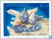 Postzegels - Monaco - Mineralen