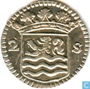 "Coins - Zeeland - Zealand 2 stuivers 1745 ""double weaponstuiver"""