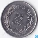 Turkey 2½ lira 1976