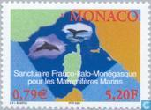 Postage Stamps - Monaco - French-Italian-Monagastisch marine protection convention