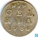 Monnaies - Gelderland - Gelderland 1786 penny arme à double