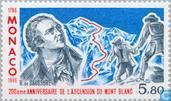 Postzegels - Monaco - Beklimming Mont Blanc